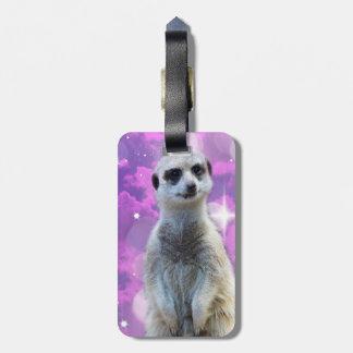 Meerkat Glitter Ball,_ Luggage Tag