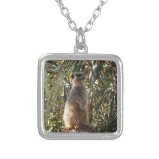 Meerkat_Guard,_ Silver Plated Necklace