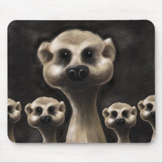 Meerkat illustration mouse mat