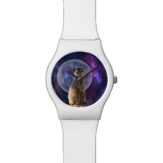 Meerkat In The Moonlight, Ladies White May Watch. Watch