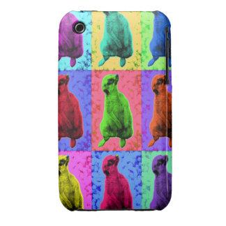 Meerkat Looking Up Pop Art Popart Multi-Panel Case-Mate iPhone 3 Case