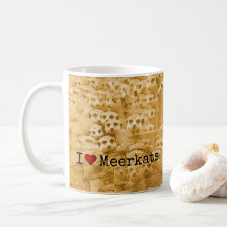 Meerkat Love Cute Wildlife Glitch Art Typography Coffee Mug