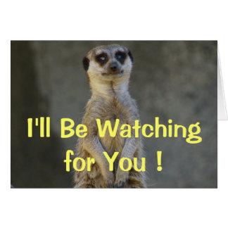 Meerkat Missing You Card