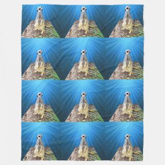 Meerkat Moonlight Express,_Large Fleece Blanket