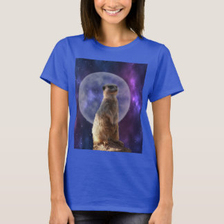 Meerkat_Moonlight_Guard,_Ladies_Blue_T-shirt T-Shirt