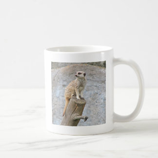 Meerkat on a Log Coffee Mug