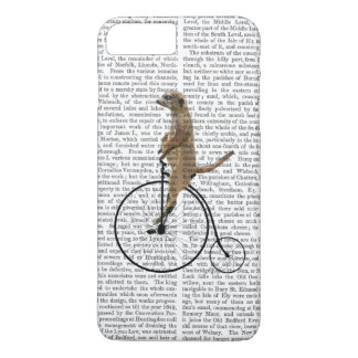 Meerkat on Black Penny Farthing iPhone 7 Plus Case