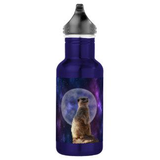 Meerkat On Blue Moonlight Night Watch, 532 Ml Water Bottle