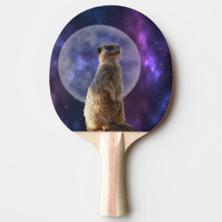 Meerkat On Blue Moonlight Night Watch, Ping Pong Paddle