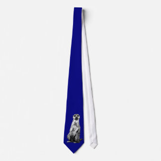 Meerkat on Light Navy Blue Tie