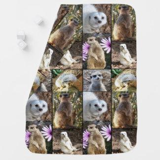 Meerkat Photo Collage, Baby Blanket