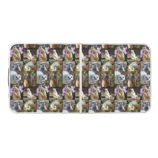 Meerkat Photo Collage, Folding Aluminum Table. Beer Pong Table