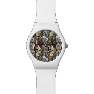 Meerkat Photo Collage Ladies White May Watch