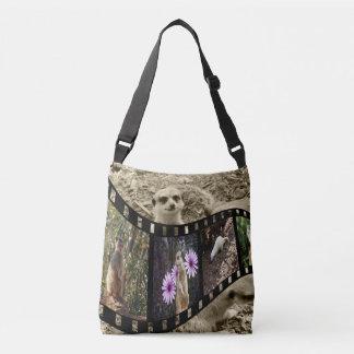 Meerkat Photo Strip, Full Print Cross Body Bag. Crossbody Bag