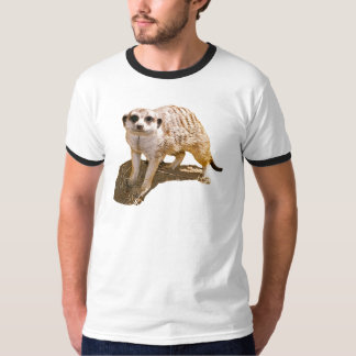 Meerkat Picture Ringer T-Shirt