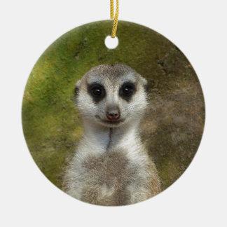 Meerkat Round Ceramic Ornament