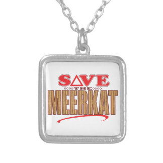 Meerkat Save Silver Plated Necklace