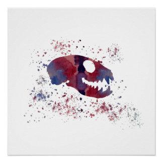 Meerkat Skull Poster