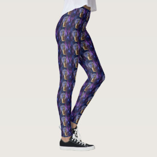 Meerkat Standing In Front Of Full Moon, Leggings