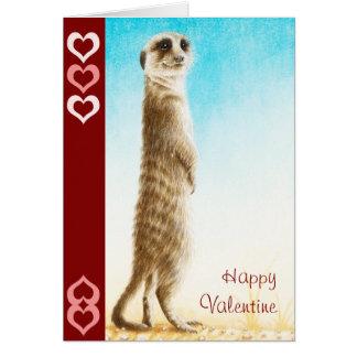 Meerkat Valentine Card
