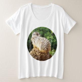 Meerkat With High Views Ladies Large T-shirt