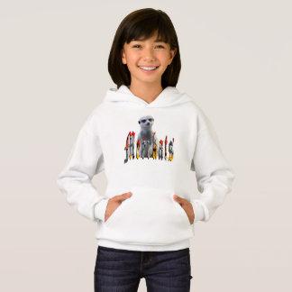 Meerkat With Meerkats Logo, Girls Fleece Hoodie