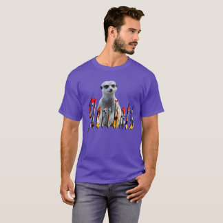 Meerkat With Meerkats Logo, Mens Purple T-shirt