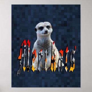 Meerkat With Meerkats Logo, Poster