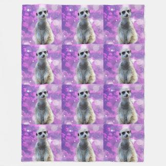 Meerkat With Sparkle, Fleece Blanket