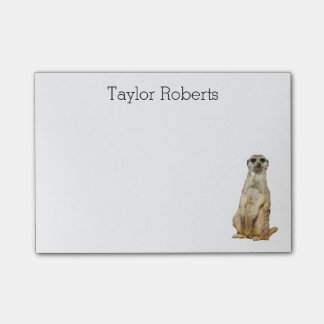 Meerkat with Your Name Custom Post-it Notes