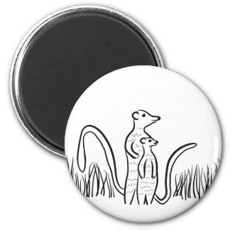 Meerkats 2 Inch Round Magnet