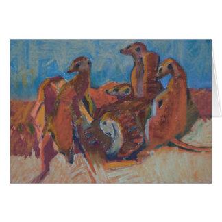 Meerkats at sunset - Art Card