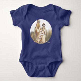 Meerkats Circle Baby Bodysuit
