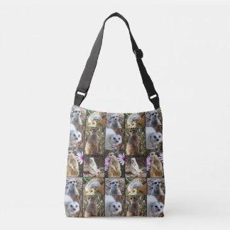 Meerkats In A Photo Collage, Crossbody Bag