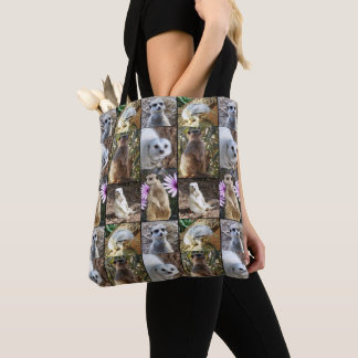 Meerkats In A Photo Collage, Tote Bag