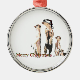 Meerkats Metal Ornament