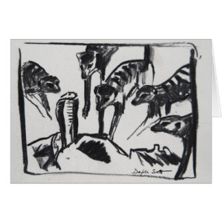 Meerkats mobbing Cobra - Art card