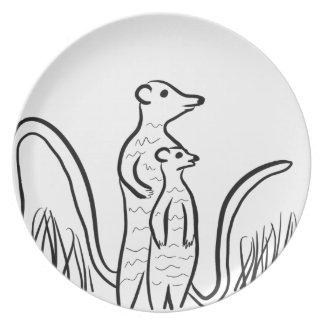 Meerkats Plate