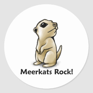 Meerkats Rock! Classic Round Sticker