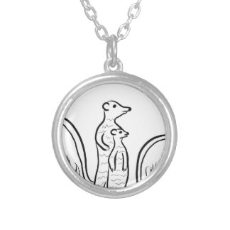Meerkats Silver Plated Necklace
