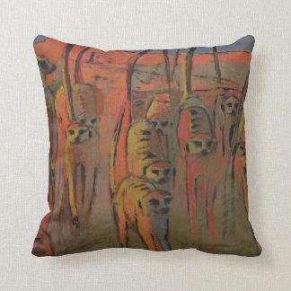 Meerkats war-dancing - Pillow