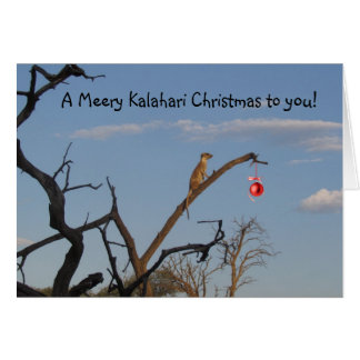 Meery Kalahari Christmas - Seaons Greetings Card