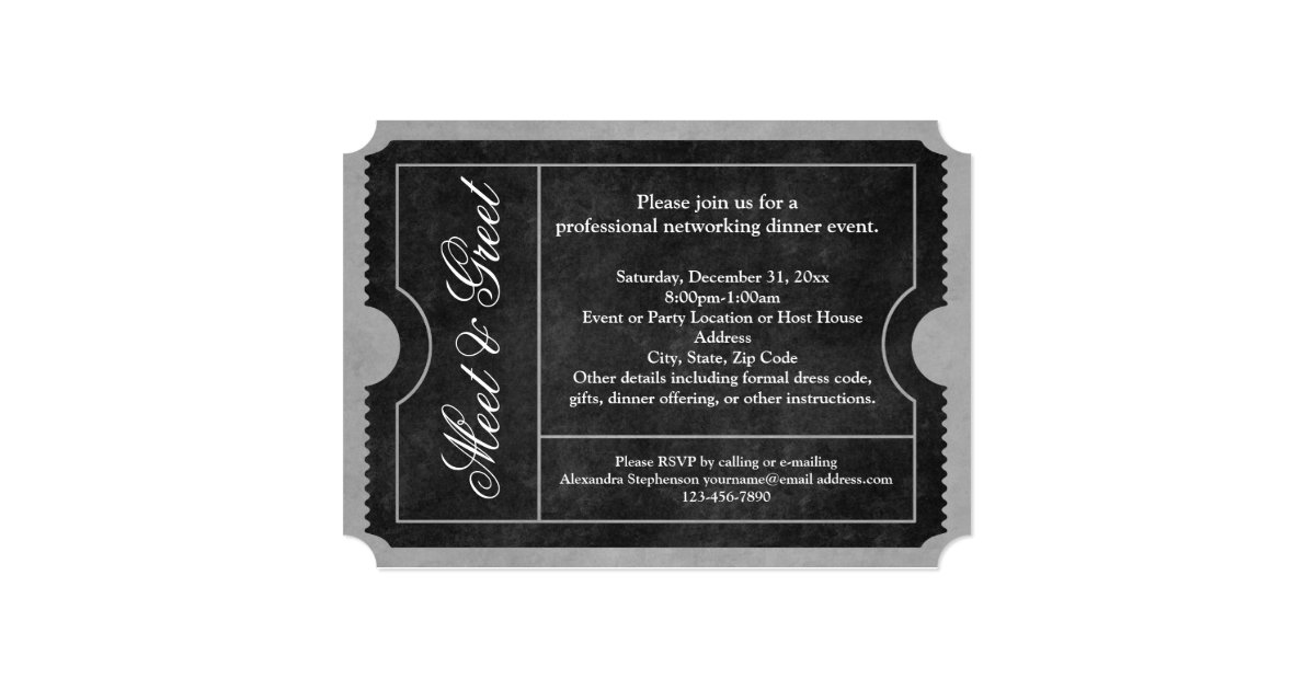 Meet And Greet Business Event Ticket Invitations Zazzle Ca