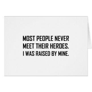 Meet Heroes Raised By Mine Card