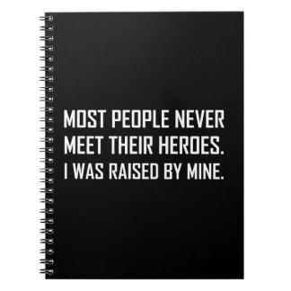 Meet Heroes Raised By Mine Notebook
