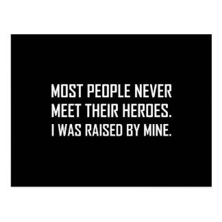 Meet Heroes Raised By Mine Postcard