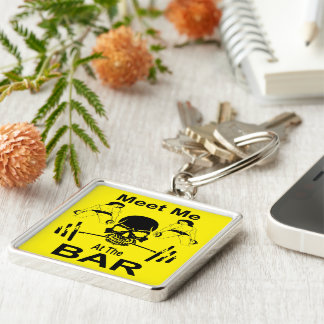 Meet Me At The Bar Gym Weight Lifting Keychain