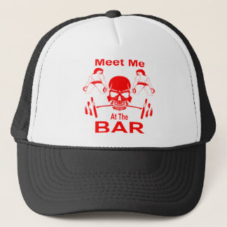 Meet Me At The Bar Gym Weight Lifting Trucker Hat