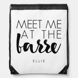Meet Me at the Barre | Ballet Drawstring Bags