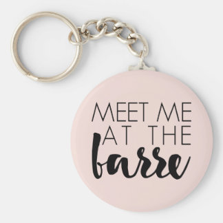 Meet Me at the Barre | Blush Pink Ballet Keychain
